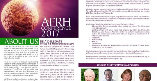 AFRH 7th International Conference: Abuja 2017