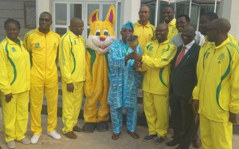 Obasanjo Unveils The NMA Games Mascot