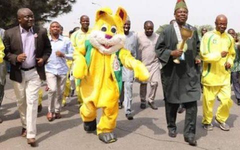 Ogun State Governor, Ibikunle Amosun Unveils NMA Games Logo