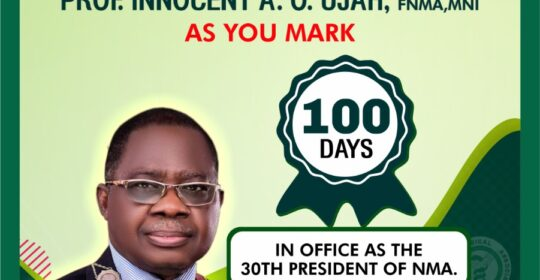 PROF INNOCENT AO UJAH'S FIRST 100DAYS IN OFFICE: A CLINICAL EXAMINATION