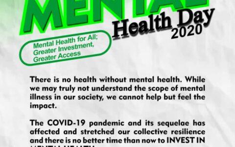 WORLD MENTAL HEALTH DAY 2020.