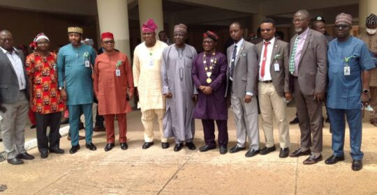 NMA PRESIDENT PAYS COURTESY CALL ON THE VICE Chancellor,  UNIVERSITY OF JOS.