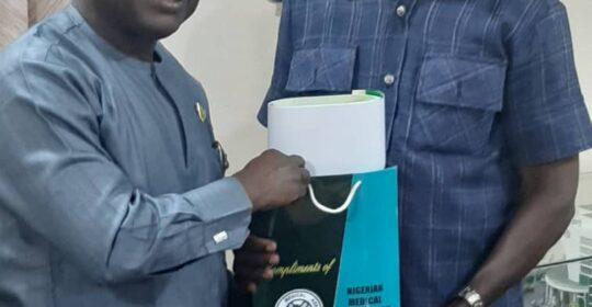 Leadership of Nigeria's Nursing Association (NANNM) Visits NMA President.