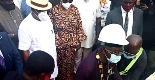 NMA PRESIDENT LAYS FOUNDATION STONE OF COLLEGE OF MEDICAL SCIENCES, RIVERS STATE UNIVERSITY, PORT-HARCOURT, RIVERS STATE.